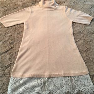 APT. 9 Turtle Neck Tunic Sweater with Lace Detail